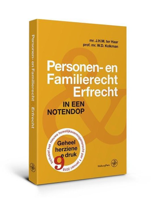 Personen- en familierecht & Erfrecht - J.H.M. ter Haar |