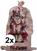 Jute zak voor Sinterklaas 60 x 102 cm Sinterklaas cadeauzak / strooizak