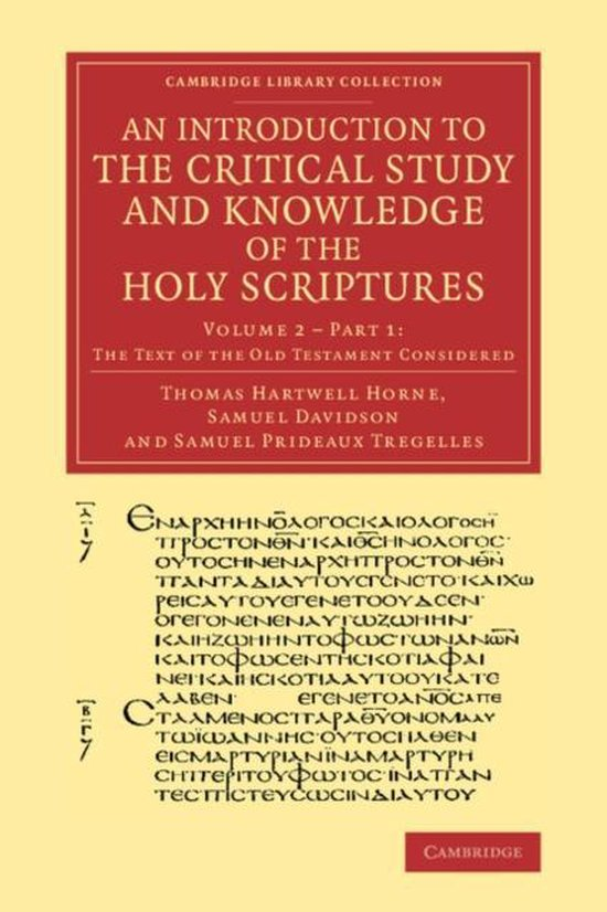 Boek cover An Introduction to the Critical Study and Knowledge of the Holy Scriptures van Thomas Hartwell Horne (Paperback)