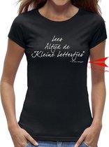 Zwangerschap aankondiging t-shirt dames / kado cadeau tip / dames - vrouwen maat S / zwart