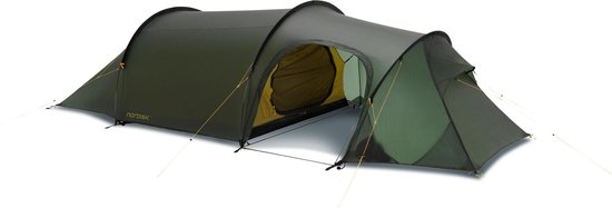 Nordisk Oppland 3 - Tunneltent - 3-Persoons - Donkergroen