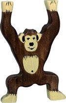 Holztiger houten aap