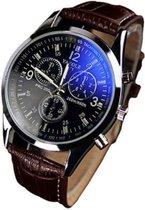 Yazole Luxe Heren horloge  (zwarte wijzerplaat)