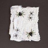 Spinnenweb - 500 gr - Wit met Spinnen - Decoratie