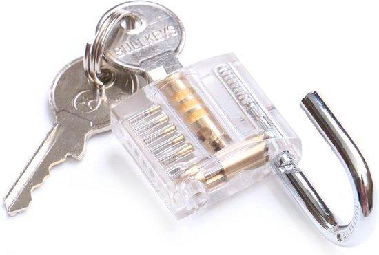 Doorzichtig transparant lock pick oefenslot | practise lock | lockpick | klein doorzichtig hangslot