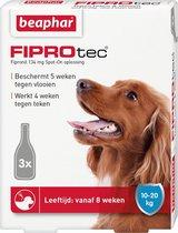 Beaphar FiproTec Anti Vlooien en tekenmiddel - Hond 10-20 kg - 3 Pippetten