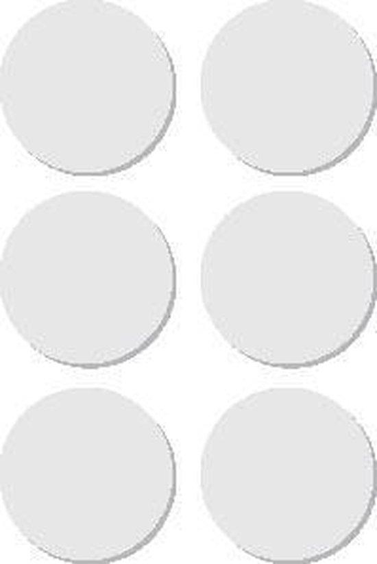 Afbeelding van Apli ronde etiketten in etui diameter 32 mm, wit, 36 stuks, 6 per blad (2665)