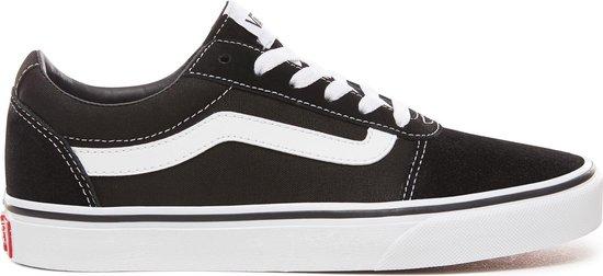 Vans Ward Sneakers Dames - Maat 40,5 - (Suede/Canvas) Black/White - Maat  40.5