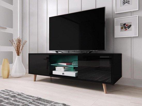 Betere bol.com | TV Meubel Hoogglans Zwart - Scandinavisch Design LD-06