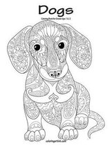 Dogs Coloring Book for Grown-Ups 1 & 2