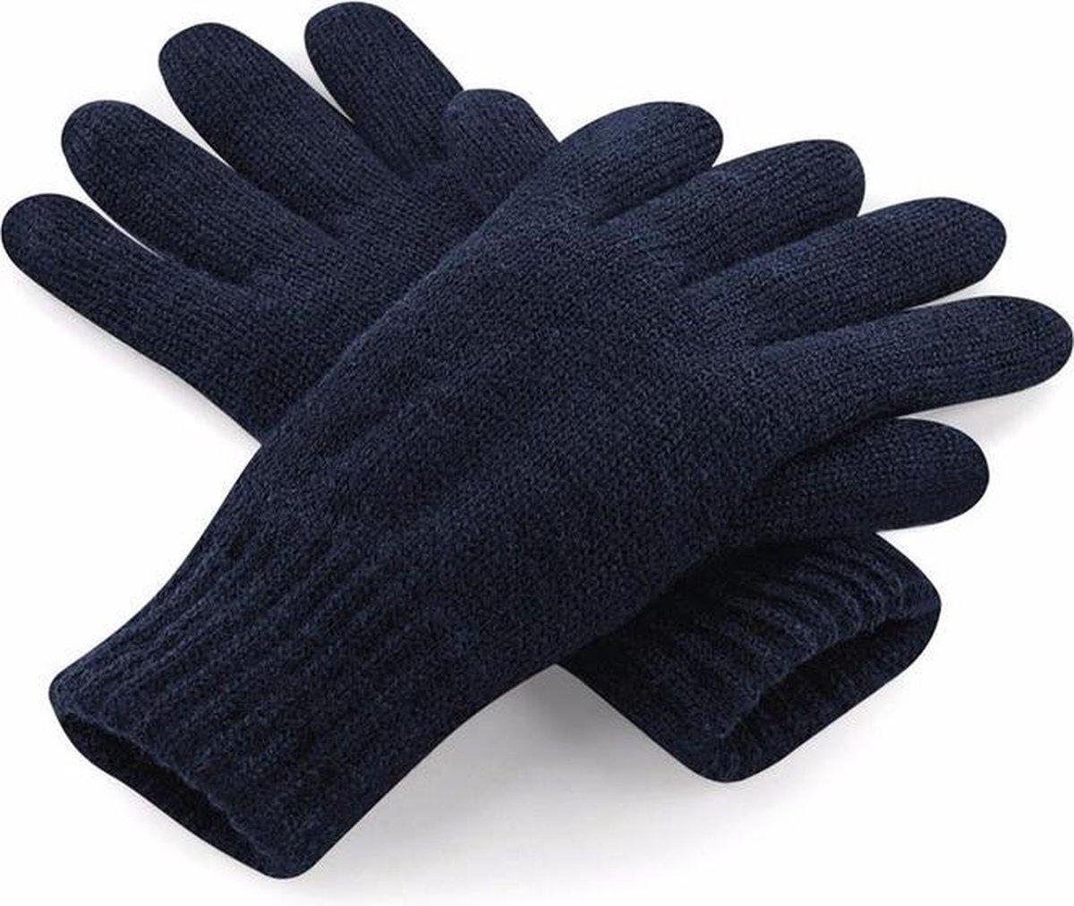 Classic thinsulate handschoenen navy S/M - Beechfield