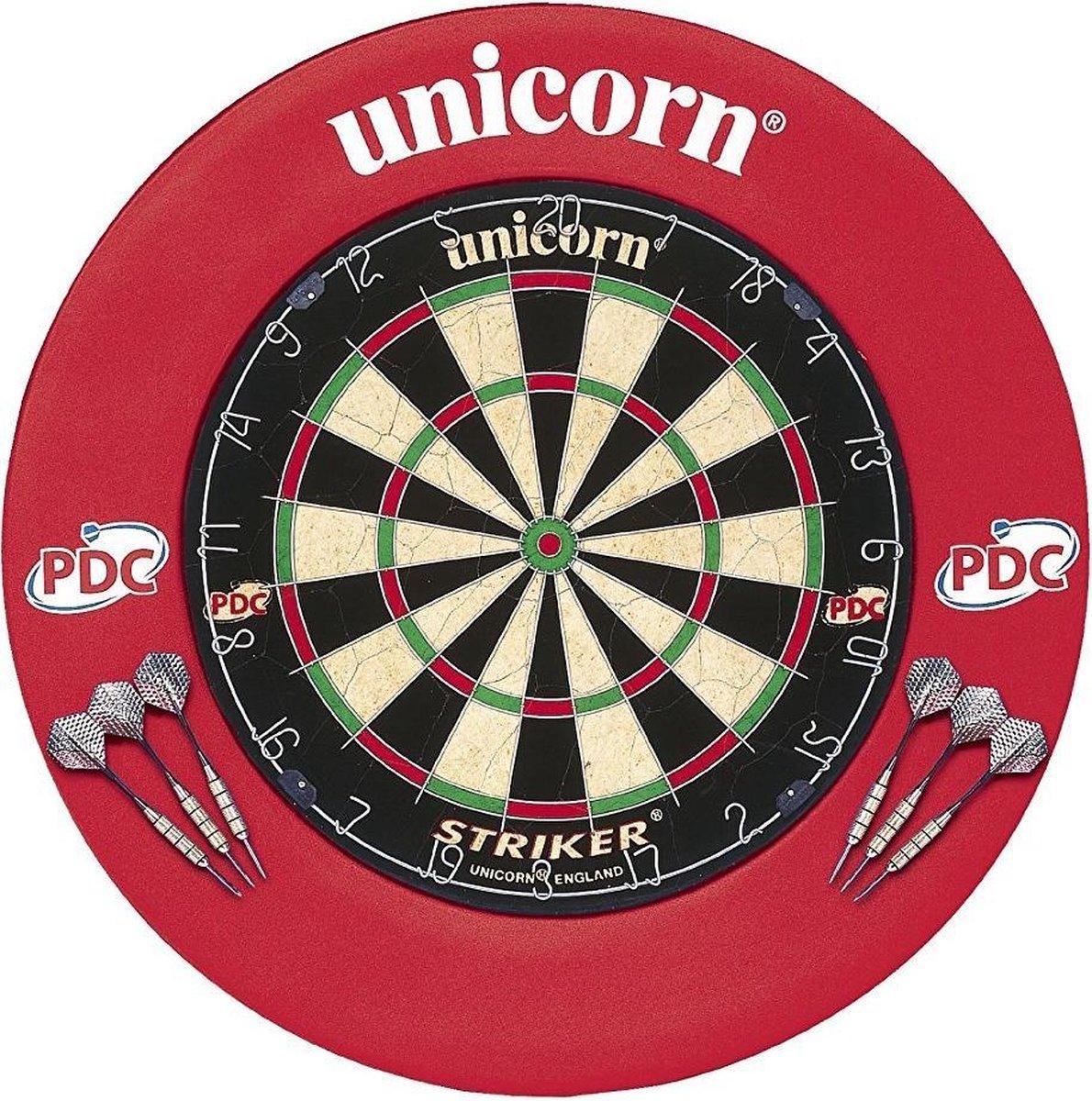 Unicorn Striker Dartbord Met Dartbordring 68 Cm