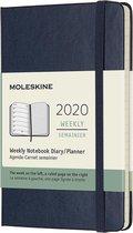 Afbeelding van Moleskine Agenda - 12 Maanden - Wekelijks - Pocket (9x14cm) - Donkerblauw - Harde Kaft