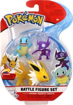 Pokémon Battle Speelfiguren - Squirtle 5 cm, Sableye 5 cm, Jolteon 8 cm