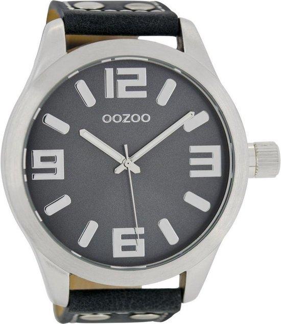 OOZOO Timepieces C1012 – Horloge – 50 mm – Leer – Blauw