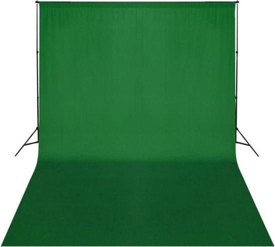 vidaXL Achtergrond chromakey 500x300 cm katoen groen