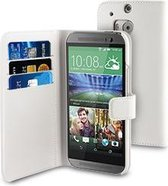muvit HTC One (M8) Wallet case with 3 cardslots White