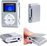 Mini clip MP3 speler FM radio met display Zilver e