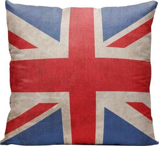 Verenigd Koninkrijk Vlag - Sierkussen - 40 x 40 cm - UK - Reizen / Vakantie - Reisliefhebbers - Voor op de bank/bed