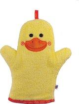 Zoocchini washandje Puddles the Duck Eend geel