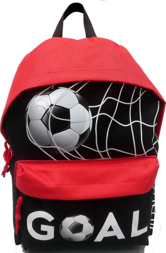 Run Away Goal! Kinderrugzak Voetbal - Zwart/Rood