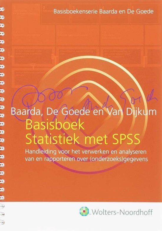 Basisboek Statistiek met SPSS - Martijn de Goede |