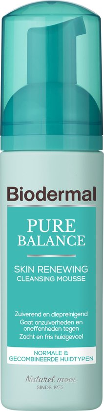 Biodermal Pure Balance Skin Renewing Cleansing Mousse - Gezichtsreinigings mousse - 150ml
