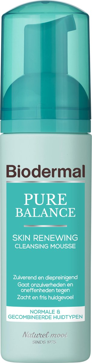 Biodermal Pure Balance Skin Renewing Cleansing Mousse -  Gezichtsreiniger - Gezichtsreinigings mouss