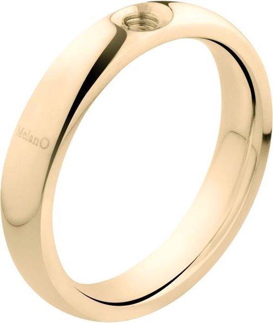 Melano twisted tracy ring - goudkleurig - dames - maat 62