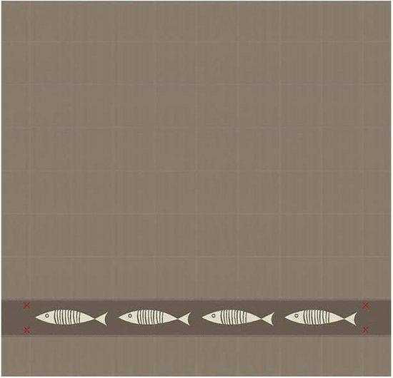 DDDDD Pescado - Theedoek - 60x65 cm - Set van 6 - Taupe