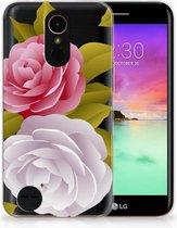 LG K10 2017 Uniek TPU Hoesje Roses