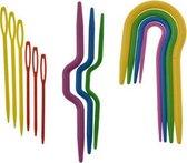 Kabelnaalden / Stopnaalden set - Ronde kabelnaalden U vorm - Rechte kabelnaald - Stopnaald - Set van 13 naalden