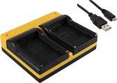 USB Dual Charger voor Kodak LB-070 Camera Accu / Compacte USB Accu Oplader