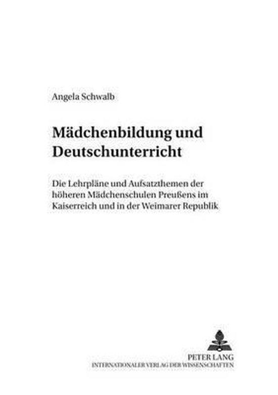 Maedchenbildung Und Deutschunterricht
