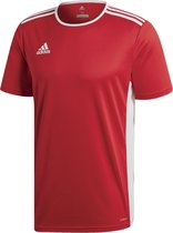 adidas Entrada 18 Trikot Heren Sportshirt - Power Red/Wit - Maat L