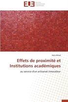 Effets de Proximit� Et Institutions Acad�miques