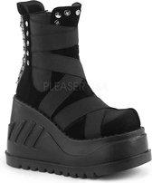 Demonia Enkellaars -39 Shoes- STOMP-25 US 9 Zwart