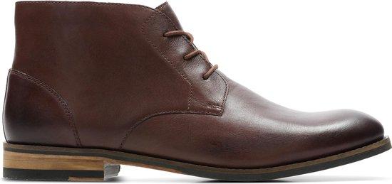 Clarks Flow Top Heren Veterboot - British Tan Leather - Maat 41