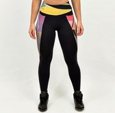 High waist sport legging dames | Graffiti beasts | Inverse | Unieke graffitiprint - Trun -  Maat XL