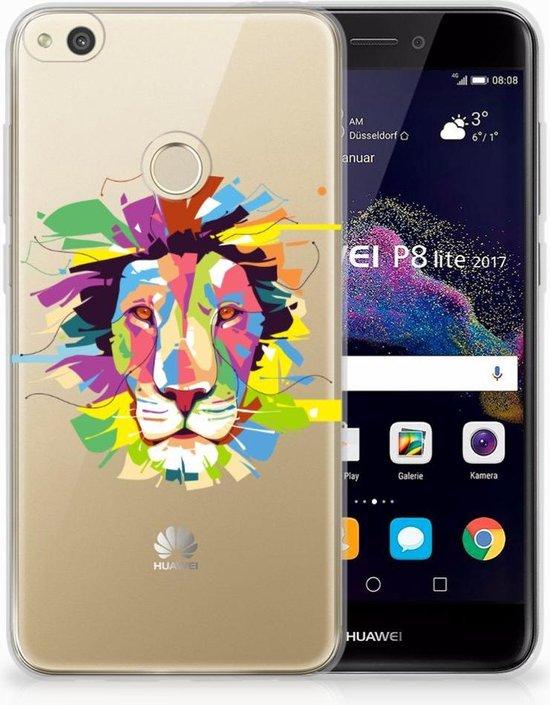 Huawei P8 Lite 2017 Uniek TPU Hoesje Lion Color