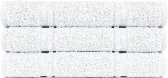 4 stuks Badstof Keukendoeken 50x50 cm Uni Pure Wit col 1