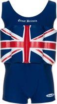 Beverly Kids UV drijfpakje Kinderen Great Britain - Blauw - Maat 110