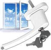 4 Vensterhandvat raambeslag raamgreep afsluitbaar wit 400899