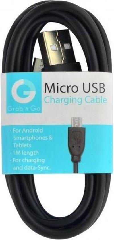 GnG Grab n Go Micro USB Kabel 1 Meter Zwart