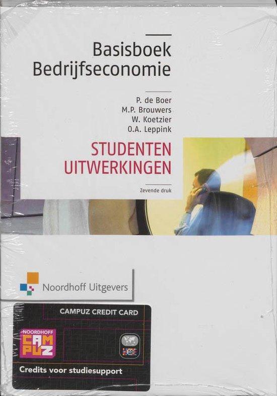 Boek cover Basisboek bedrijfseconomie/Studenten uitwerkingen van Rien Brouwers (Paperback)
