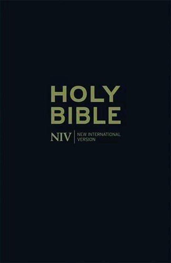 NIV Thinline Black Leather Bible - New International Version |