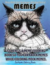 Easy Adult Color by Numbers Coloring Book of Memes
