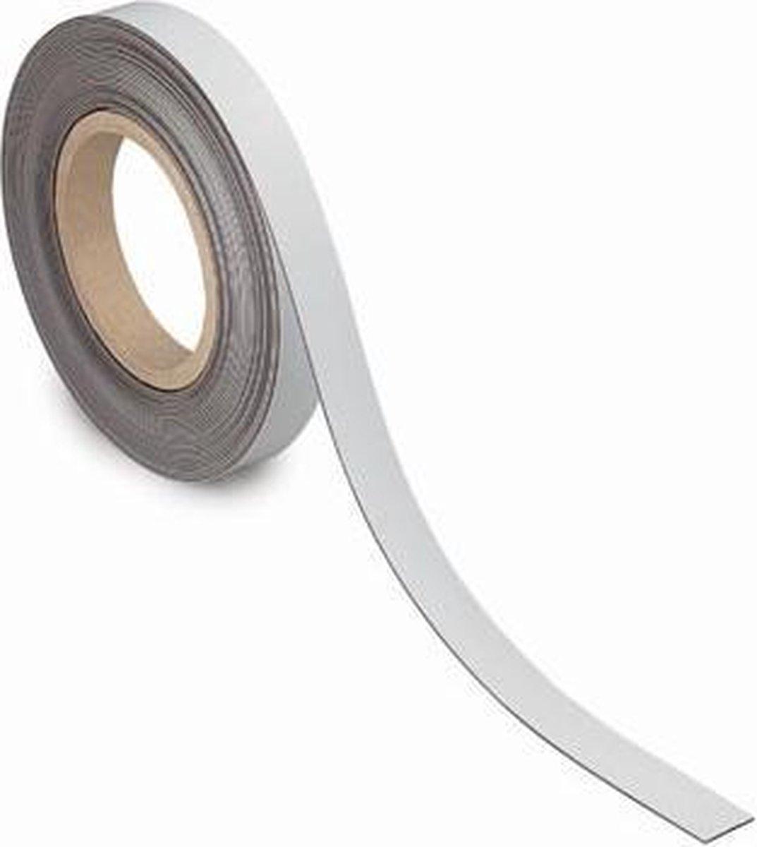 Magneetband, beschrijf-, wisbaar, 10 m x 20 mm x 1 mm
