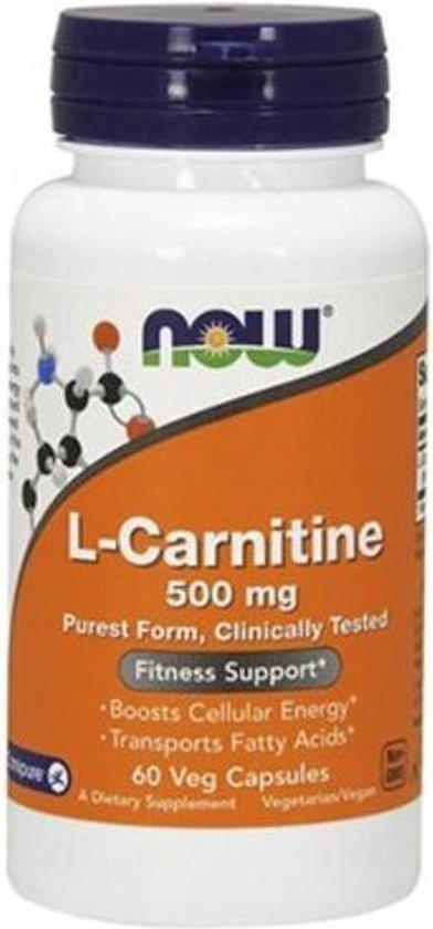 L-Carnitine 500mg Now Foods 60v-caps