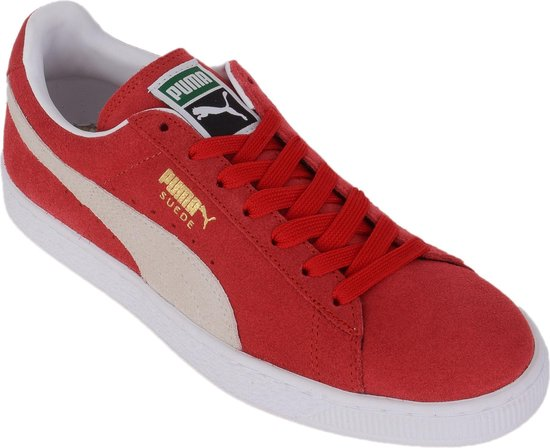 Puma Suede Classic+ Sportschoenen - Maat 41 - Unisex - rood/wit